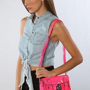 Melie Bianco Natalia Bag in Neon hot pink